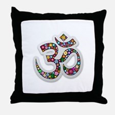 Om Aum Namaste Yoga Symbol Throw Pillow