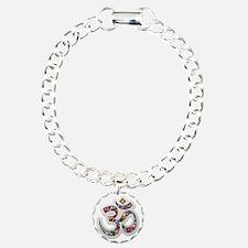 Om Aum Namaste Yoga Symbol Bracelet