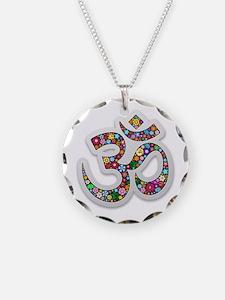 Om Aum Namaste Yoga Symbol Necklace