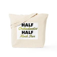 Half Orthodontist Half Rock Star Tote Bag