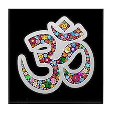 Om Aum Namaste Yoga Symbol Tile Coaster