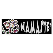 Om Aum Namaste Yoga Symbol Bumper Bumper Sticker