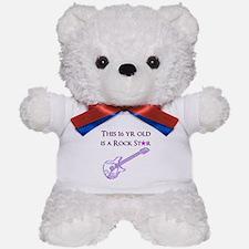 16TH ROCK STAR Teddy Bear