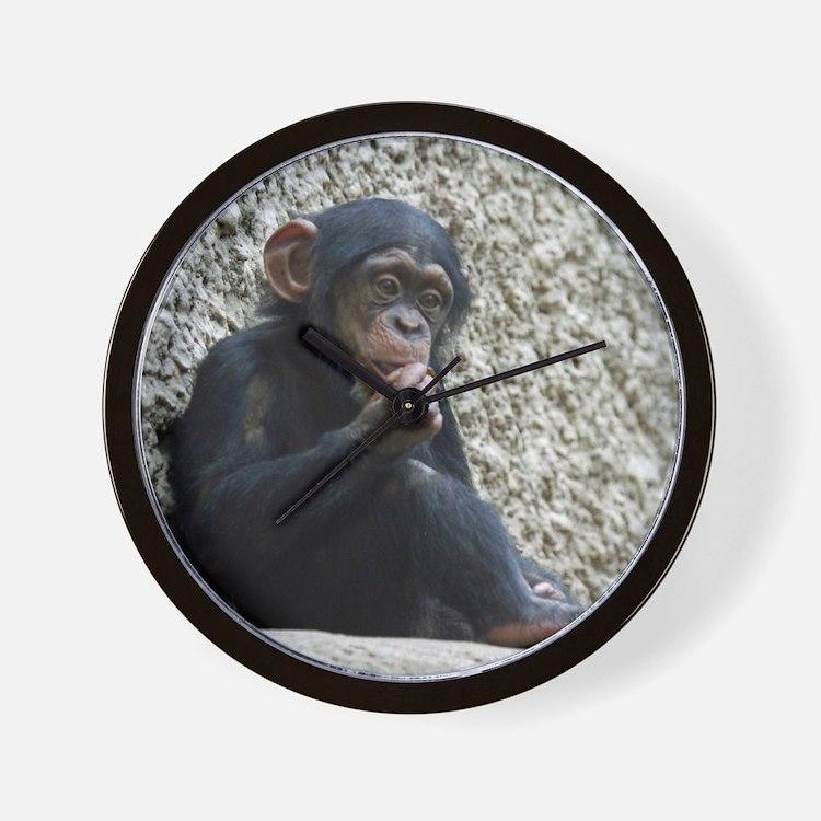 Chimpanzee003 Wall Clock