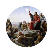 Sermon on the Mount, Bloch painting Round Ornament