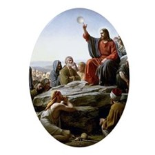 Sermon on the Mount, Bloch painting Oval Ornament