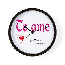 """Valentine Wall Clock """"Te amo"""" Reloj de pared"""