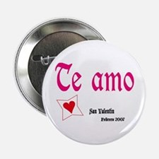"Button Boton dice ""Te amo"" I love you"