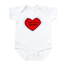 Papa is My Valentine Infant Bodysuit