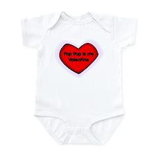 Pop Pop is My Valentine Infant Bodysuit