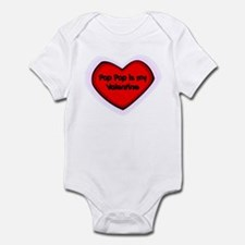 Pop Pop is My Valentine Infant Bodysuit