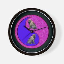 Yin Yang Shar Pei Dog Wall Clock