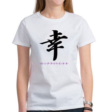 Happiness (Kanji Character) Women's T-Shirt