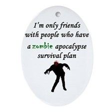 Zombie Plan Ornament (Oval)