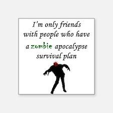 Zombie Plan Sticker