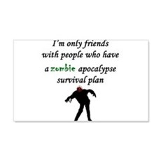 Zombie Plan Wall Decal