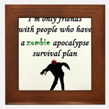 Zombie Plan Framed Tile