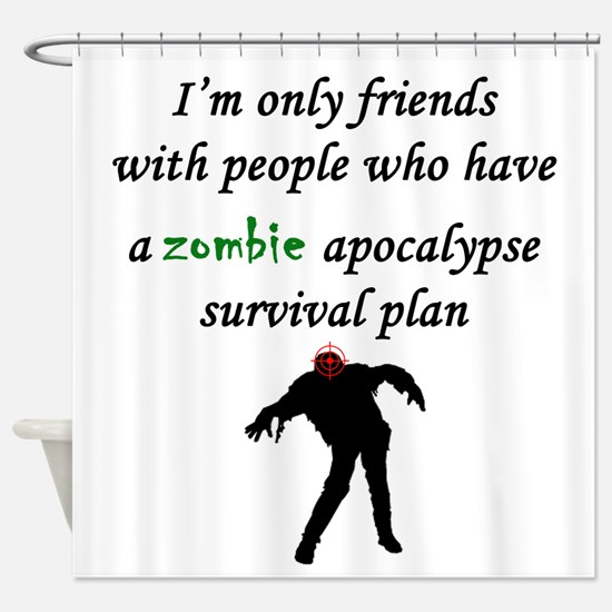Zombie Plan Shower Curtain