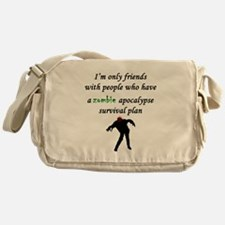 Zombie Plan Messenger Bag
