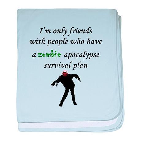 Zombie Plan baby blanket