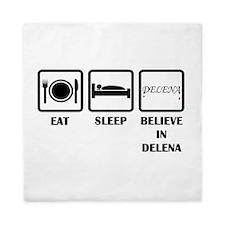 Eat Sleep Delena Queen Duvet