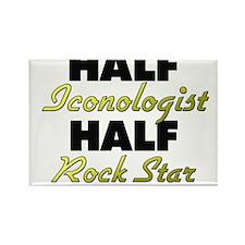 Half Iconologist Half Rock Star Magnets