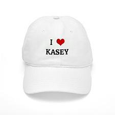 I Love KASEY Baseball Cap