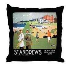 ST. ANDREW'S GOLF CLUB 2 Throw Pillow