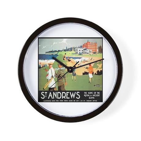 ST. ANDREW'S GOLF CLUB 2 Wall Clock