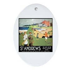 ST. ANDREW'S GOLF CLUB 2 Oval Ornament