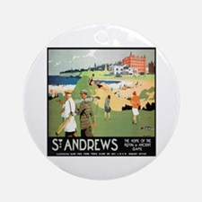 ST. ANDREW'S GOLF CLUB 2 Ornament (Round)