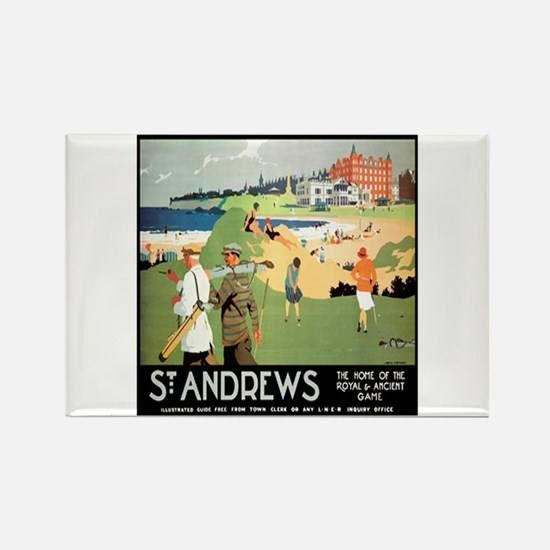 ST. ANDREW'S GOLF CLUB 2 Rectangle Magnet