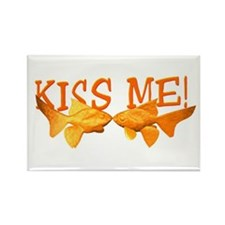 Kiss Me Goldfish Rectangle Magnet