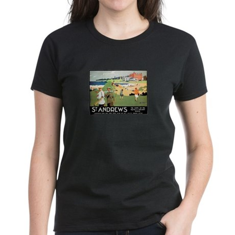 ST. ANDREW'S GOLF CLUB 2 Women's Dark T-Shirt