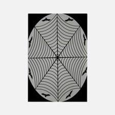 Spider Web and Bats wht gray Rectangle Magnet
