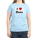 I Love Dara Women's Pink T-Shirt
