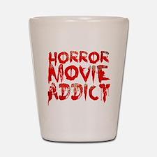 Horror movie addict Shot Glass