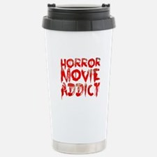 Horror movie addict Stainless Steel Travel Mug