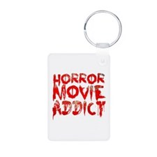 Horror movie addict Keychains