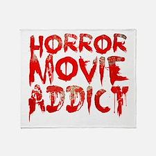 Horror movie addict Throw Blanket
