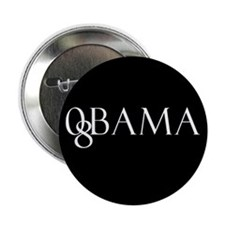Obama (black design 2) Button