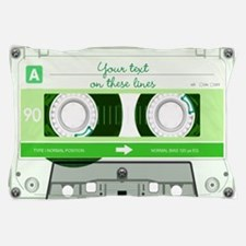 Cassette Tape - Green Pillow Case