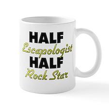 Half Escapologist Half Rock Star Mugs