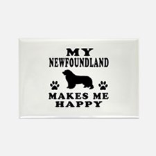 My Newfoundland makes me happy Rectangle Magnet