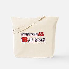 45 year old birthday designs Tote Bag