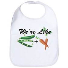 Like Peas and Carrots Bib