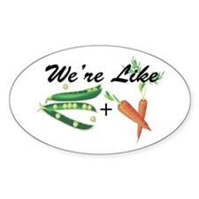 Like Peas and Carrots Oval Decal