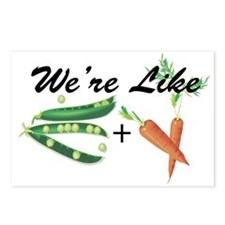 Like Peas and Carrots Postcards (Package of 8)