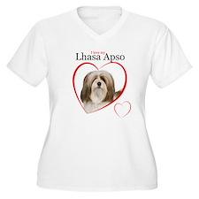 Lhasa Apso Love Plus Size T-Shirt