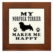 My Norfolk Terrier makes me happy Framed Tile